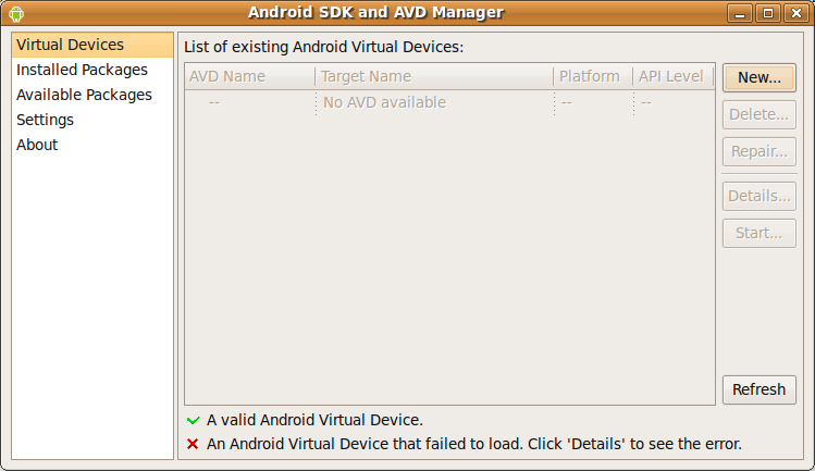 Screenshot-Android SDK Manager